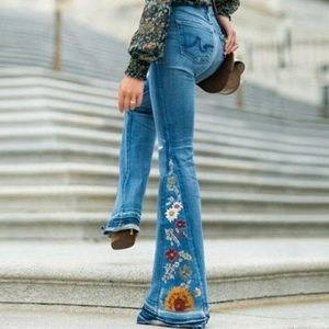 *COMING SOON* Embroidered Boho Bootcuff Jeans
